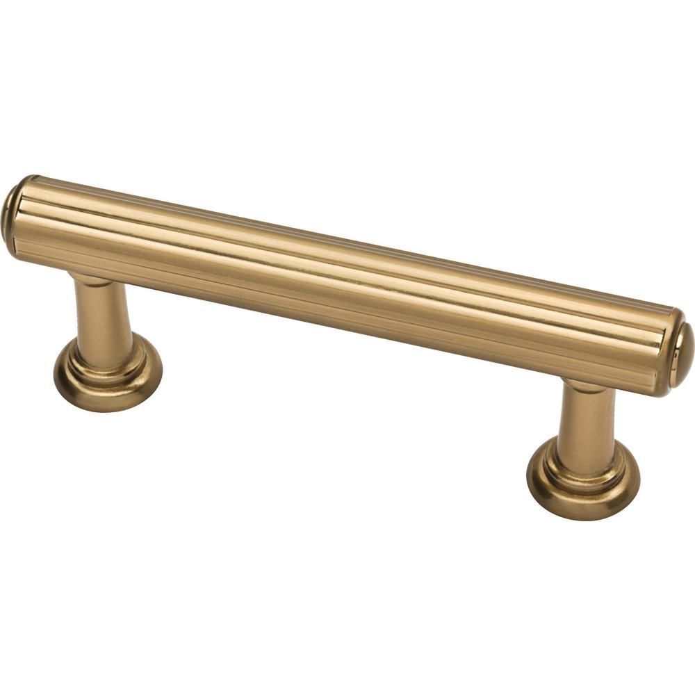 Home Depot Fluted Classic 3 In 76 Mm Champagne Bronze Drawer Pull 10 Pack Martha Stewart Living Cup Drawer Pulls Brass Cabinet Hardware