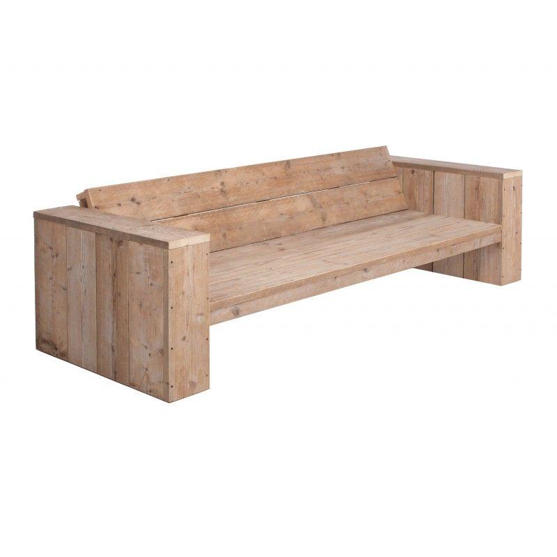 mooie steigerhouten lounge bank, steigerhouten loungebank