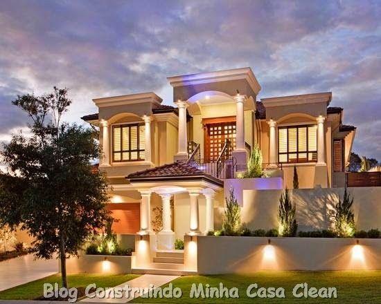 Fachadas de casas modernas e iluminadas casas casas for Casa home goods