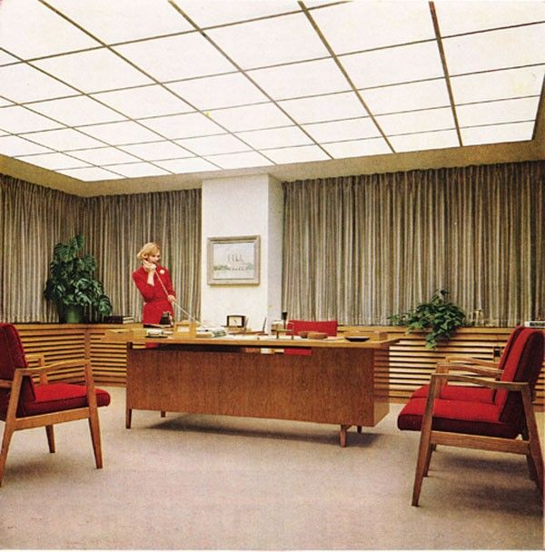 Retro Office, Men Office, Modern Office Decor, Vintage Office, Modern  Offices