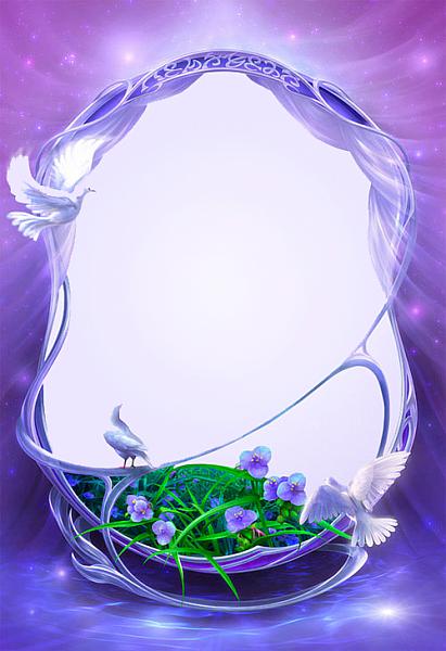 blue-flowers frame