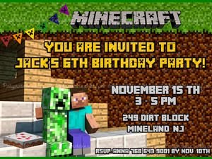 MINECRAFT INVITATION BIRTHDAY MINECRAFT BIRTHDAY CARD Minecraft printable invitation http://partyprintable.weebly.com/  http://partyprintable.weebly.com/  Minecraft printable decoration, Minecraft birthday party decoration, Minecraft gifts, Minecraft invitation, Minecraft, Minecraft creeper, Creeper decoration, Minecraft digital file, Minecraft free decoration, minecraft printables, minecraft food, minecraft stickers, creeper printables
