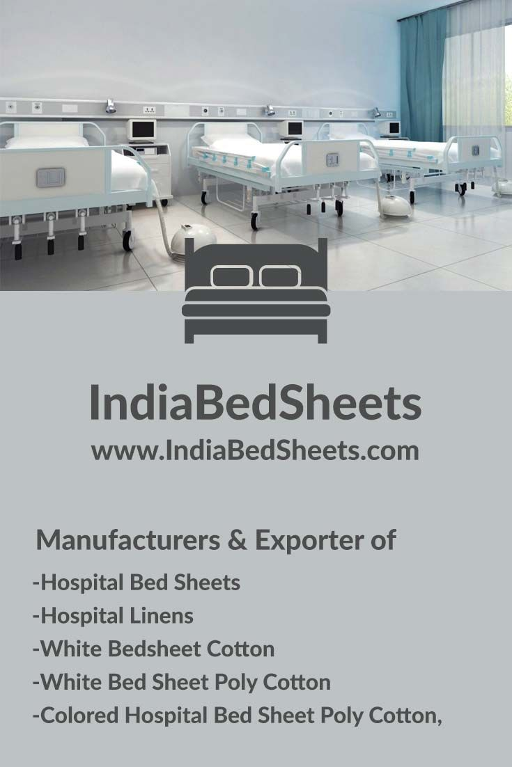 IndiaBedSheets is manufacturers and Exporter of Hospital Bed Sheets and Hospital bed Linen in all sizes.