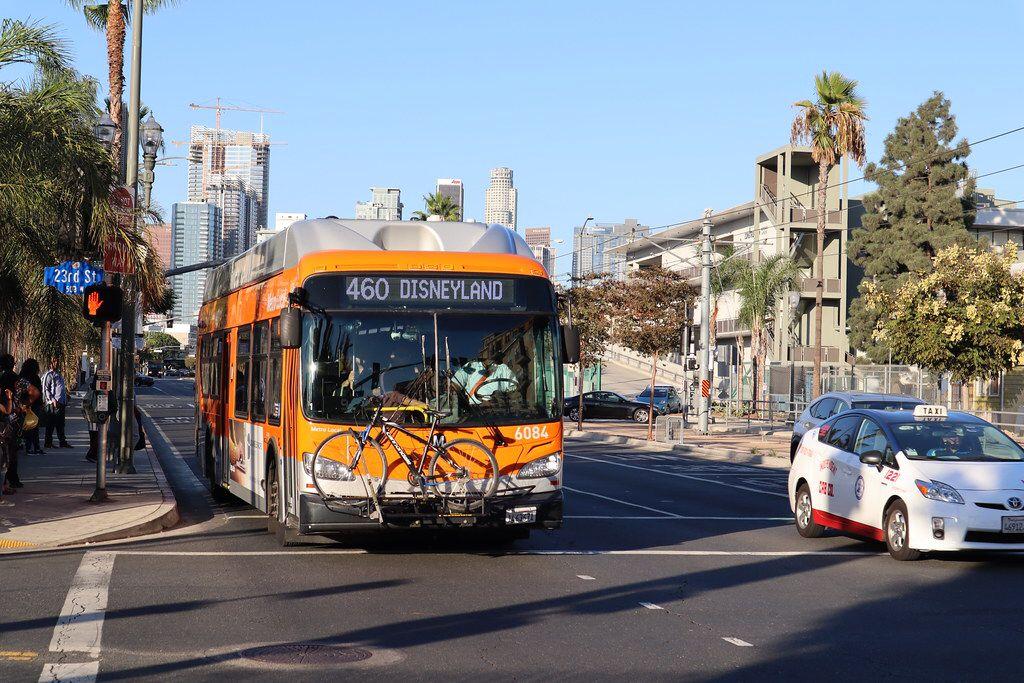 Disneyland Bound Bus Leaving Los Angeles Disneyland Los Angeles Los Angeles Disneyland