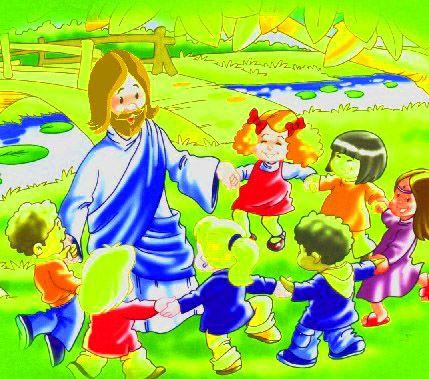 Jesus Jugando Con Los Ninos Dibujos Para Ninos Dibujos De Jesus Imagenes De Dibujos Infantiles