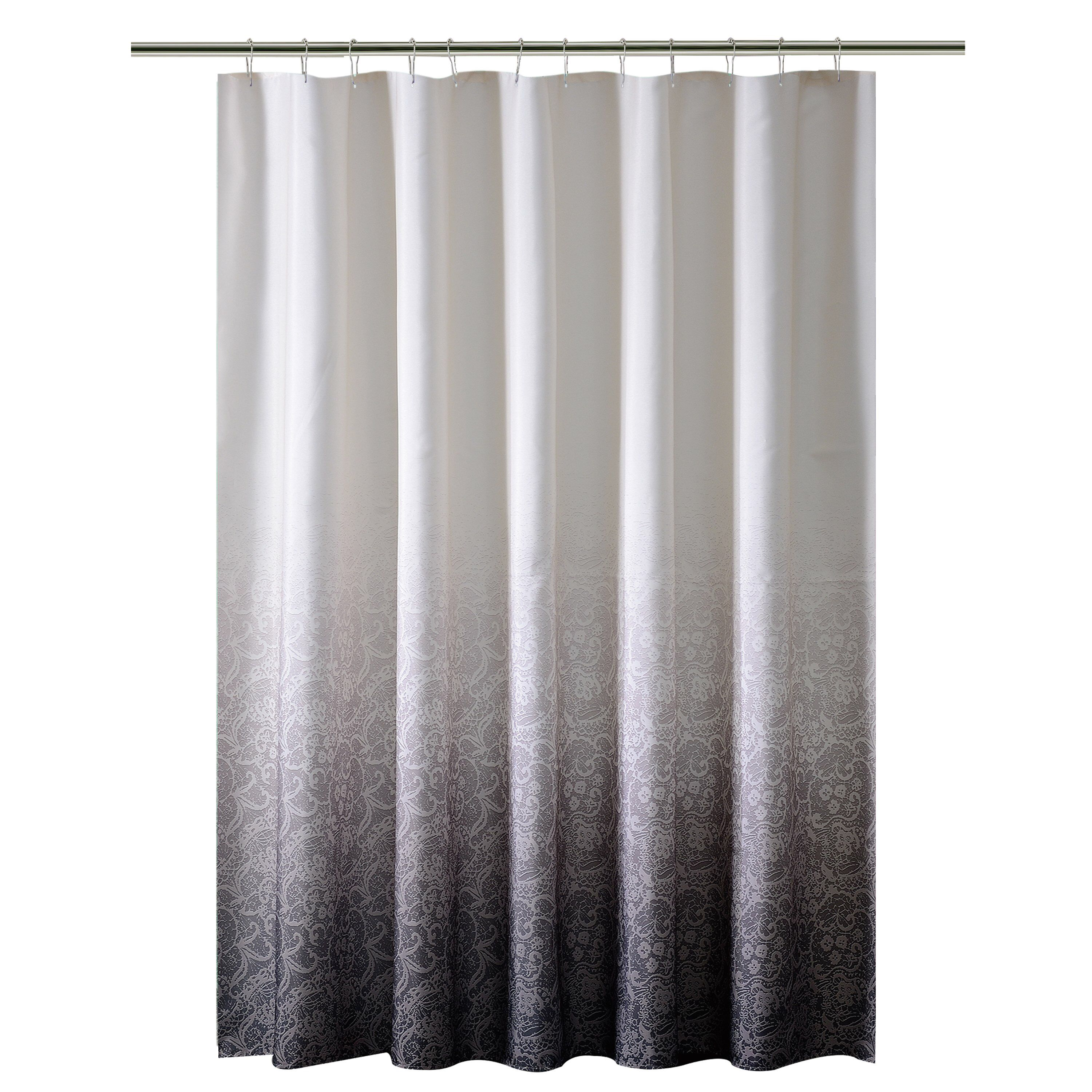 Lace Printed Ombre Single Shower Curtain Ombre Shower Curtain
