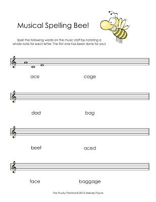 Musical Spelling Bee: Treble Clef | Melody Payne - The Blog ...