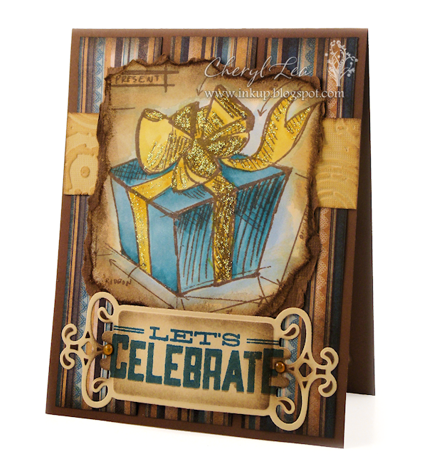 Ink Up: Let's Celebrate!--Masculine Birthday Card