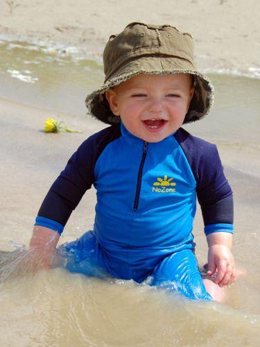 Charcoal Nozone Kids Sun Hat Small