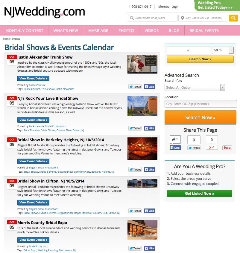 Have You Seen Our New Bridal Shows  Events Calendar Find Out