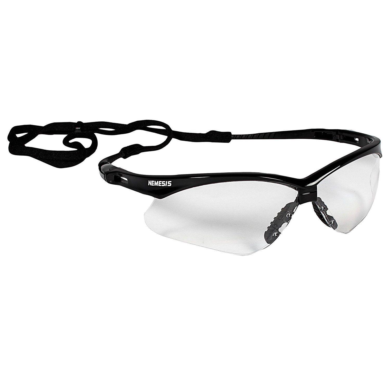 V30 Nemesis Black Frame with Clear AntiFog Lens Glasses