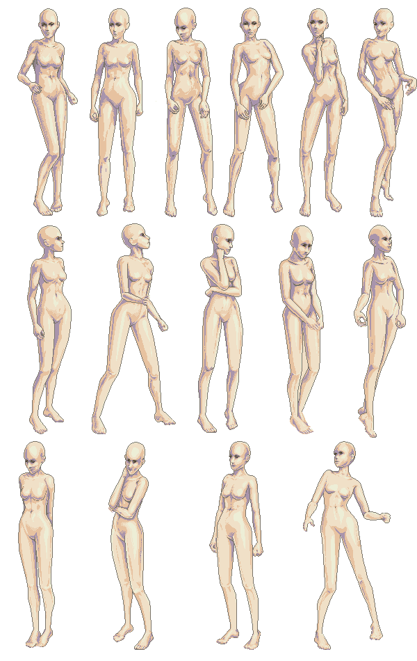 Vesna Set One Life Drawing Reference Art Poses Figure Drawing Reference