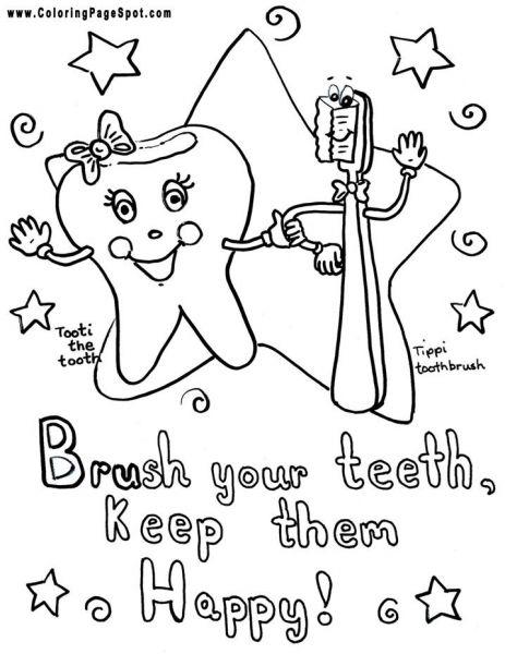 teeth coloring page # 44