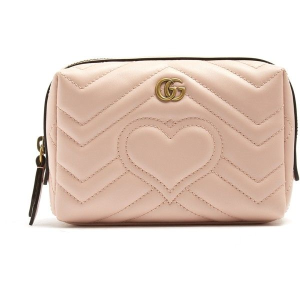 Gucci GG Marmont quilted-leather make-up bag (£320) ❤ liked on ... : quilted cosmetic bags - Adamdwight.com
