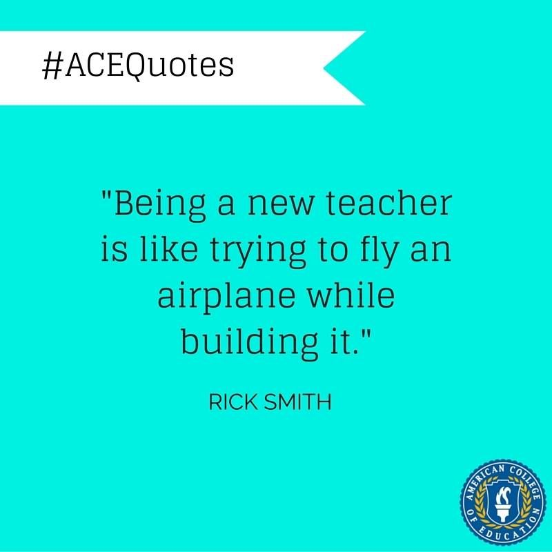 """""""Being A New Teacher Is Like Trying To Fly An Airplane"""