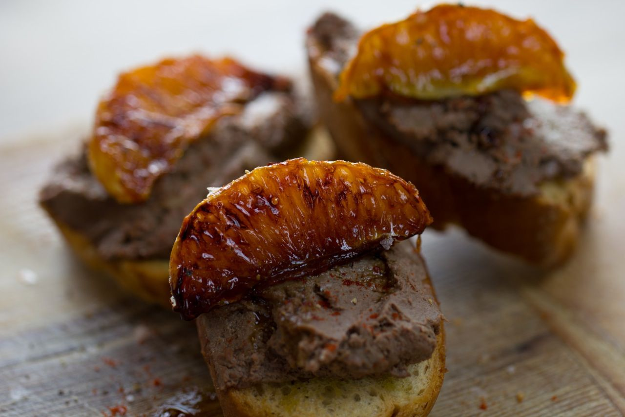 Chicken Liver Pâté with Caramelised Orange Segments#Coutet #Barsac #Sauternes #Wine #Vin