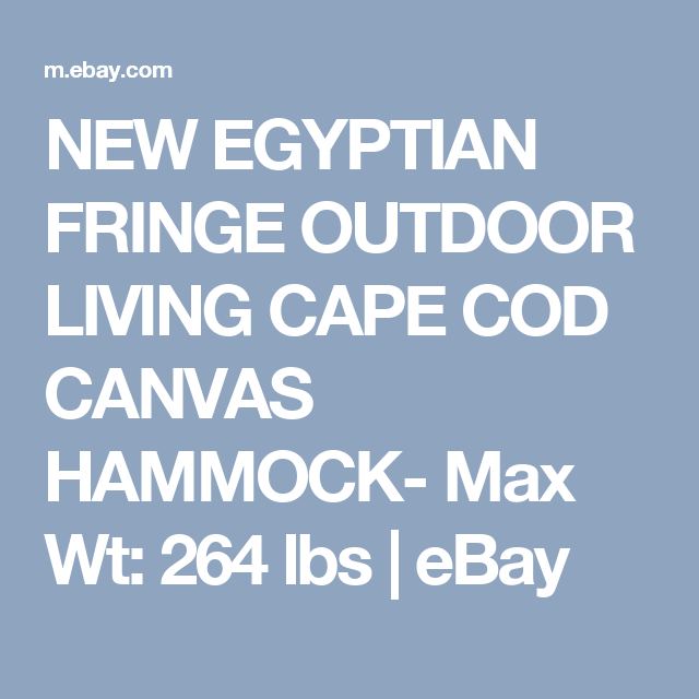 new egyptian fringe outdoor living cape cod canvas hammock  max wt  264 lbs   new egyptian fringe outdoor living cape cod canvas hammock  max wt      rh   pinterest