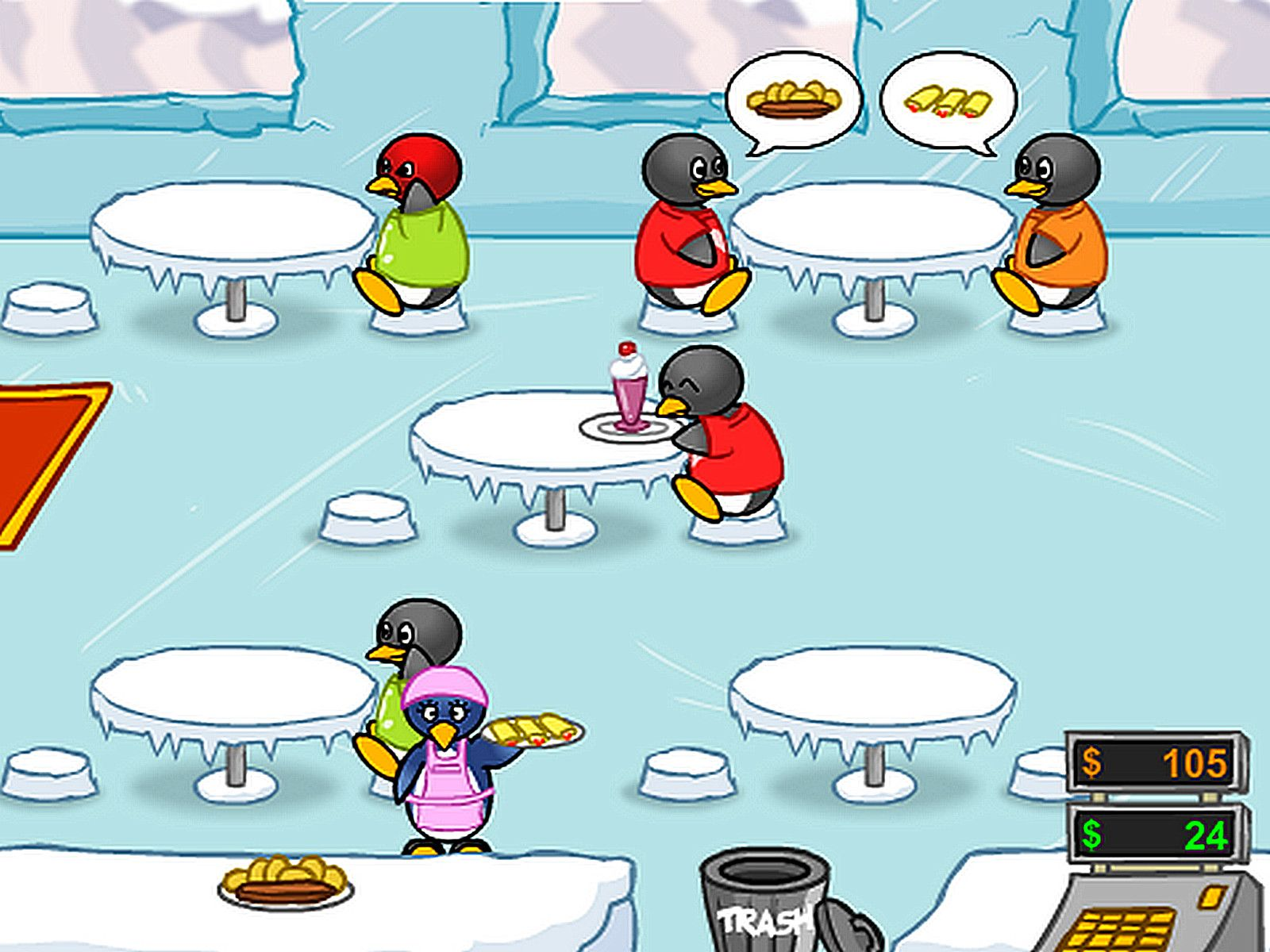 Penguin Diner (With images) Penguin diner, Game of the day