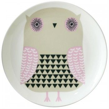 Assiette Owl - Donna Wilson , owl plate would be easy to copy design onto almost anything.