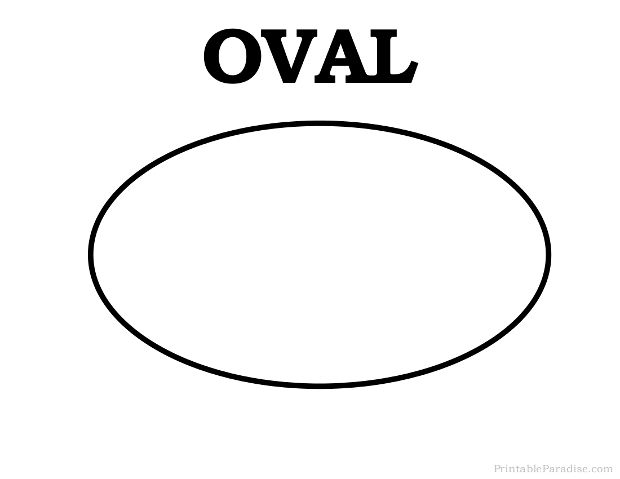 Printable Oval Shape