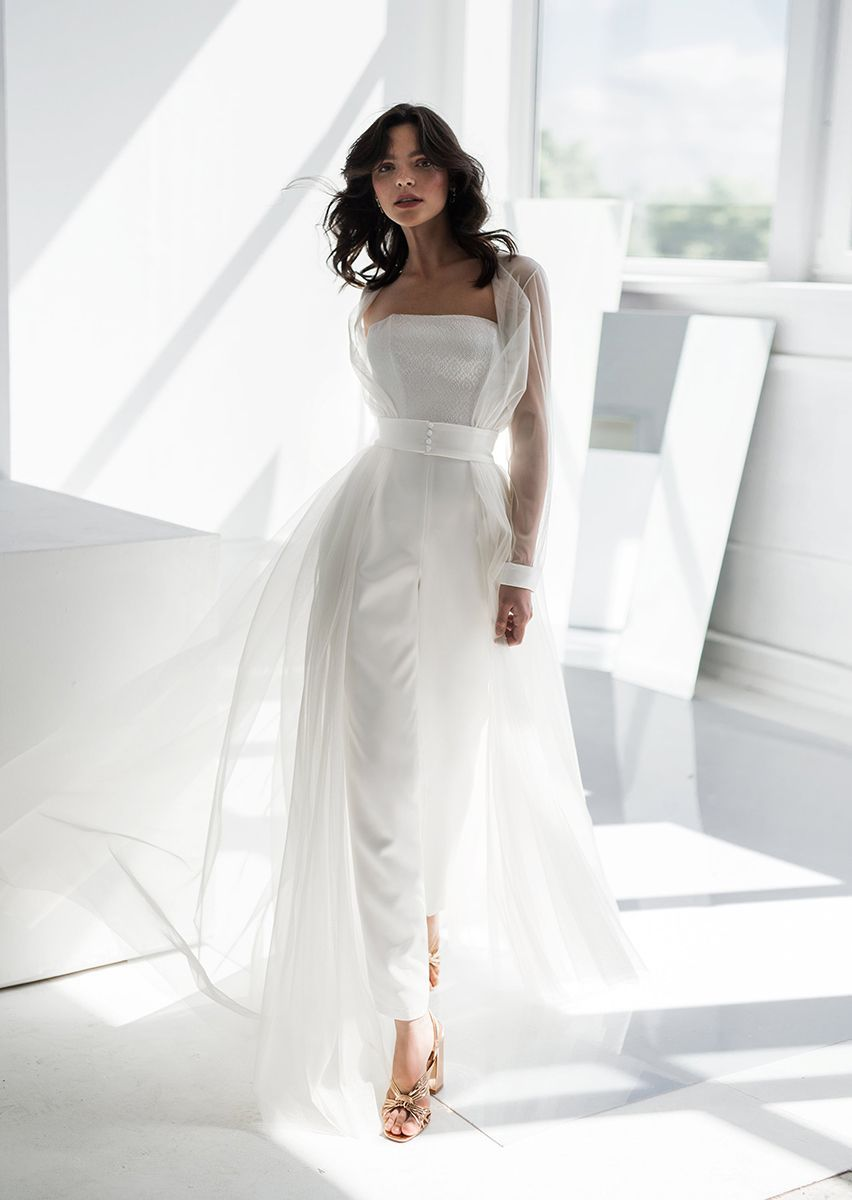 Bridal Jumpsuit with Cape by Edelweiss Bride , $20 // 20 Wedding ...