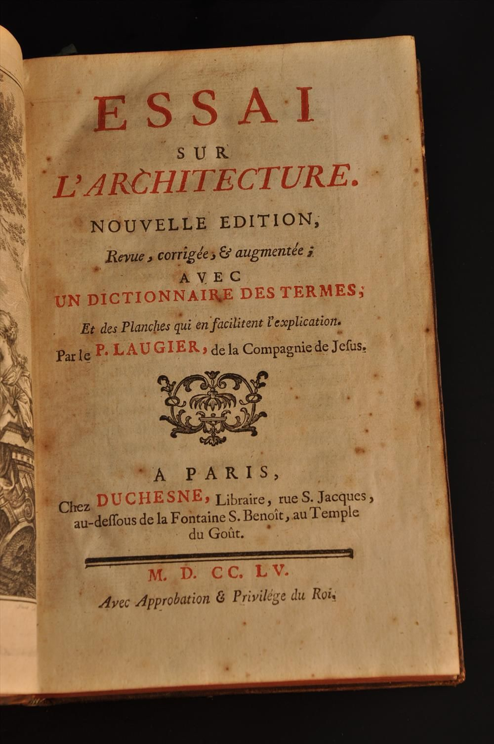 Marc Antoine Laugier Essai Sur L Architecture 2nd Ed 1755 Architecture Book Cover Lecture