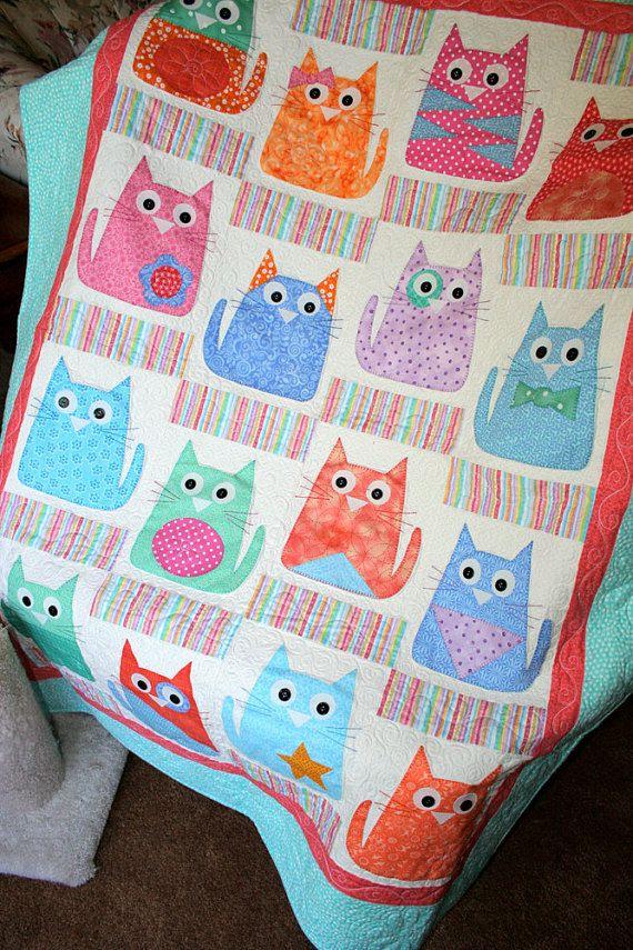 Copycats – Cats Quilt Pattern – Machine Applique Q