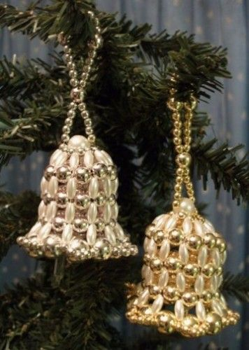 New pattern for beaded bell christmas ornament