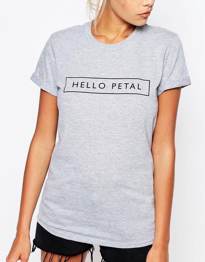 """Bild 3 von Adolescent Clothing – Boyfriend-T-Shirt mit Hello """"Petal""""-Aufschrift"""
