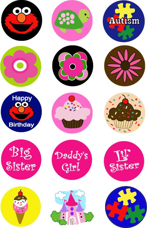 Free bottle cap images for hair bows