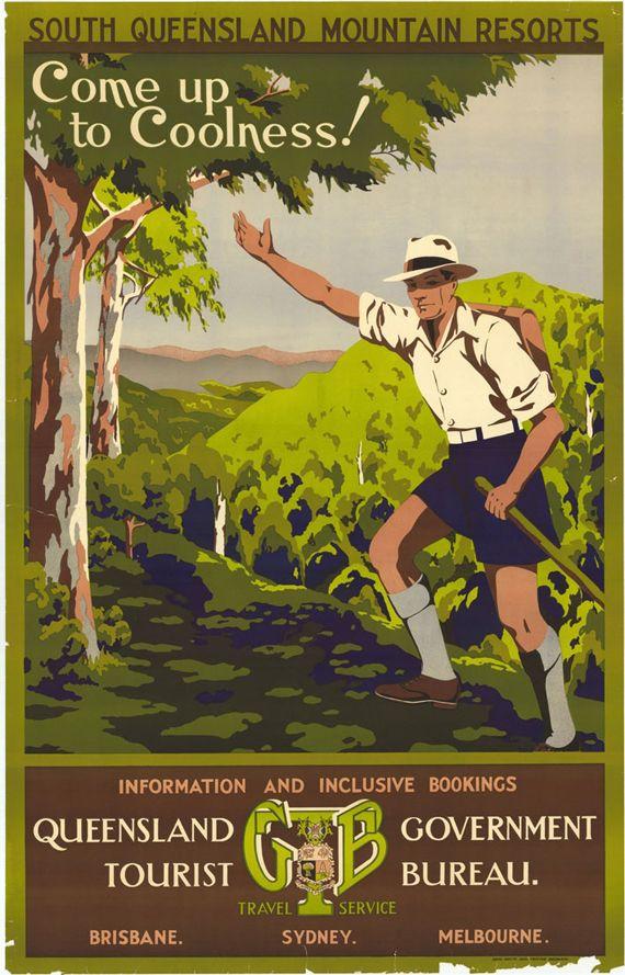 Vintage Australian Ballarat Tourism Poster  A3 Print
