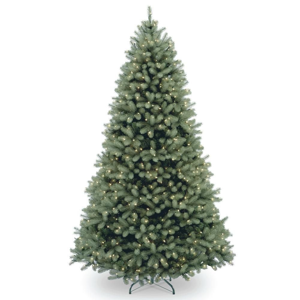 National Tree Company 6 1 2 Ft Feel Real Downswept Douglas Blue Fir Hinged Tree With 6 In 2020 Christmas Tree Clear Lights Fir Christmas Tree Types Of Christmas Trees