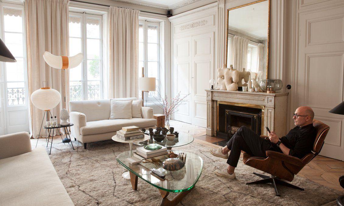 Salon Maison Hand Tapis Berbere Table Basse Noguchi Fauteuil Eames