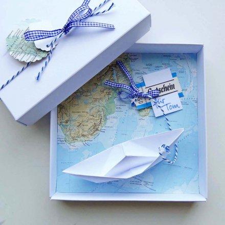 Geldgeschenk-Verpackung 'Reise' #ikeagutscheinverpacken