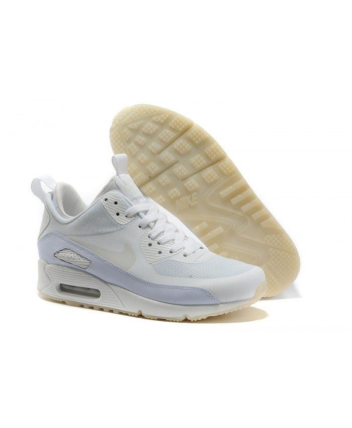 half off ff80e 59a04 Homme Nike Air Max 90 Sneakerboot Blanc Gris Chaussures