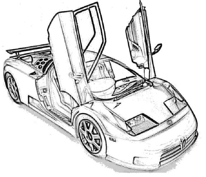 Bugatti EB110 Coloring Page Bugatti eb110 Pinterest