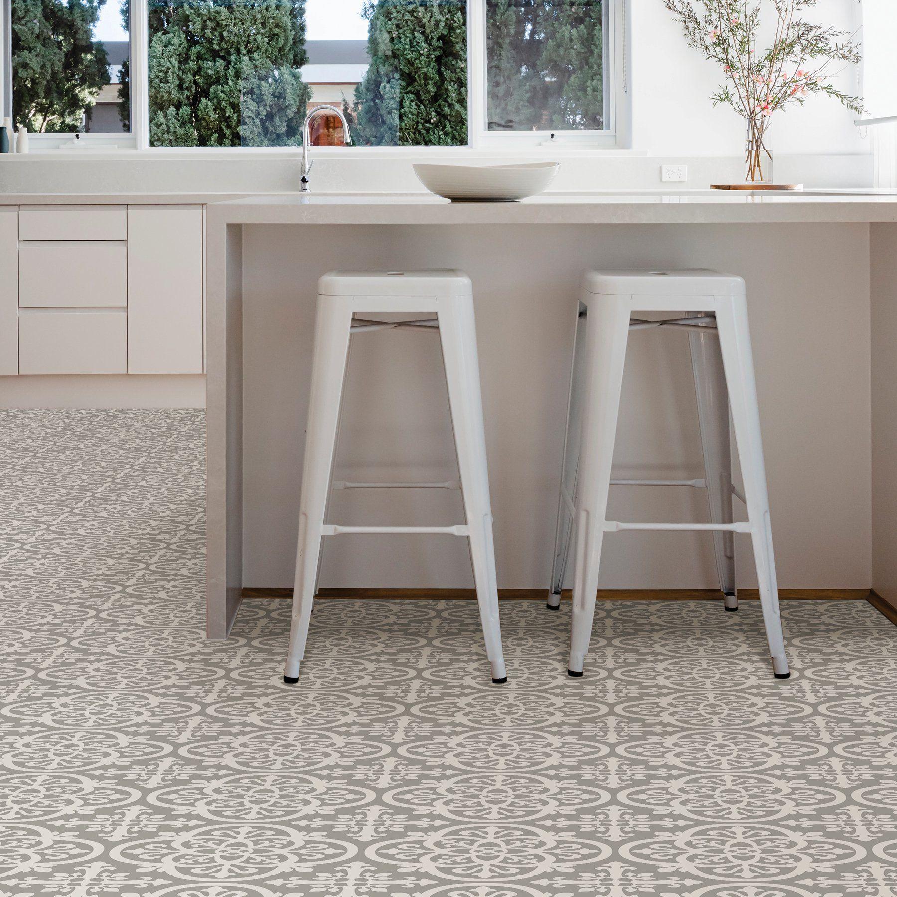 Floorpops Medina 12 In X 12 In Peel And Stick Virgin Vinyl Floor Tiles 10 Pack Walmart Com In 2021 Peel And Stick Floor Kitchen Flooring Trends Vinyl Tile