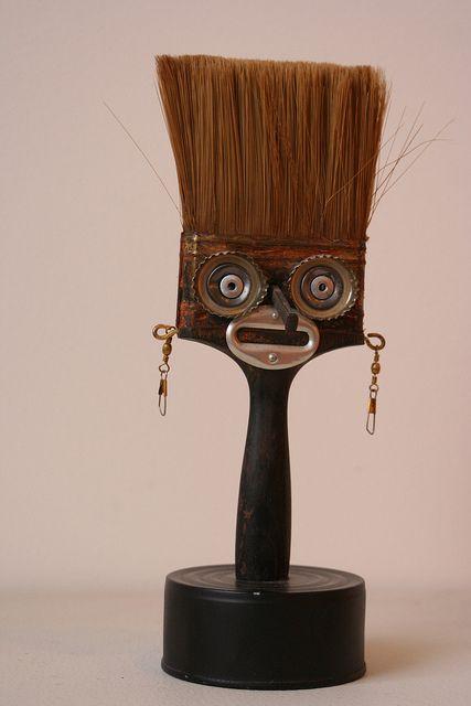 Paint Brush Sculpture Scrap Metal Art Paint Brush Art Junk Art