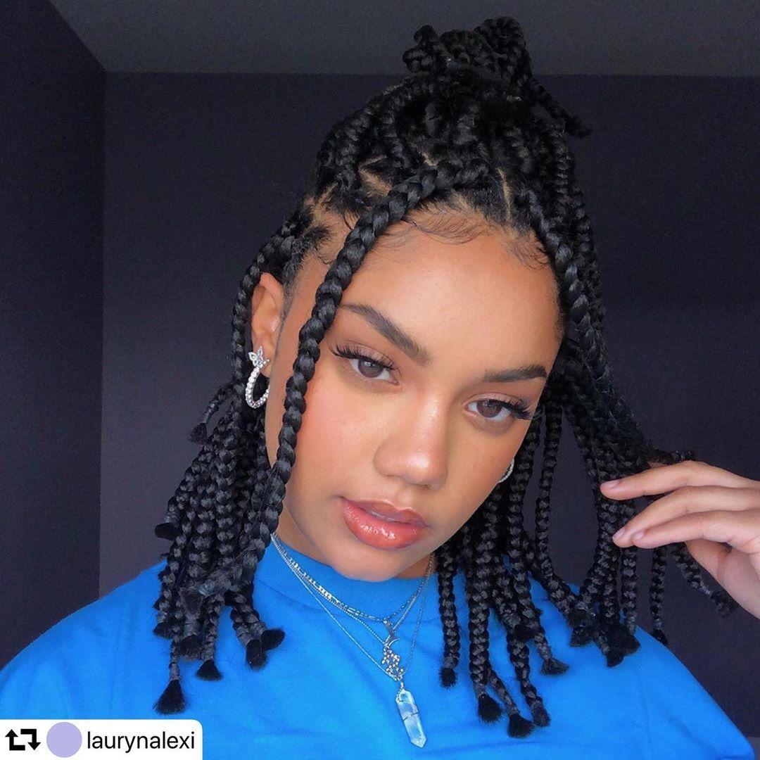 14 Inches Goddess Box Braids Short Box Braids Hairstyles Braids For Black Hair Short Box Braids