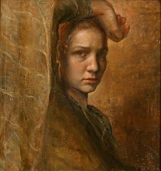 Artist and Studio, Helene Knoop, Melancholy (self-portrait)