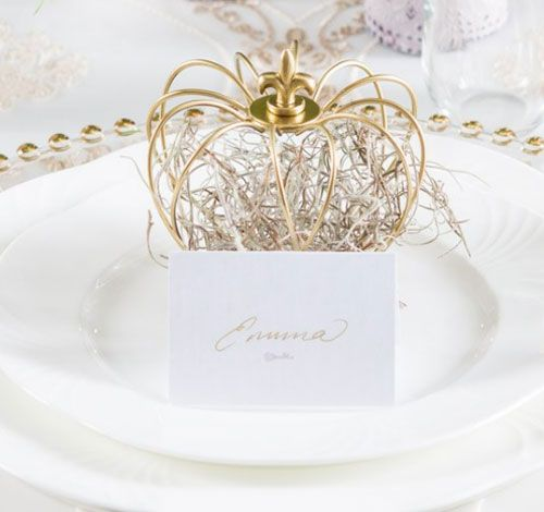 Small Wire Crown Wedding Favor Décor $3.75