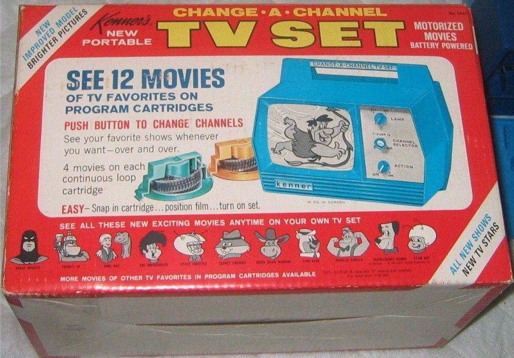 KENNER: 1966 Change-A-Channel Portable TV Set   Vintage