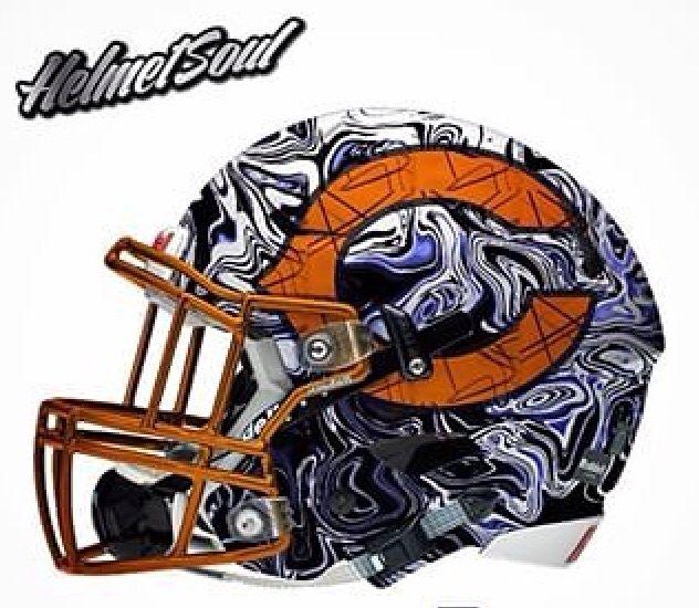 Helmetsoul Football Helmets Chicago Bears Helmet Chicago Bears Football
