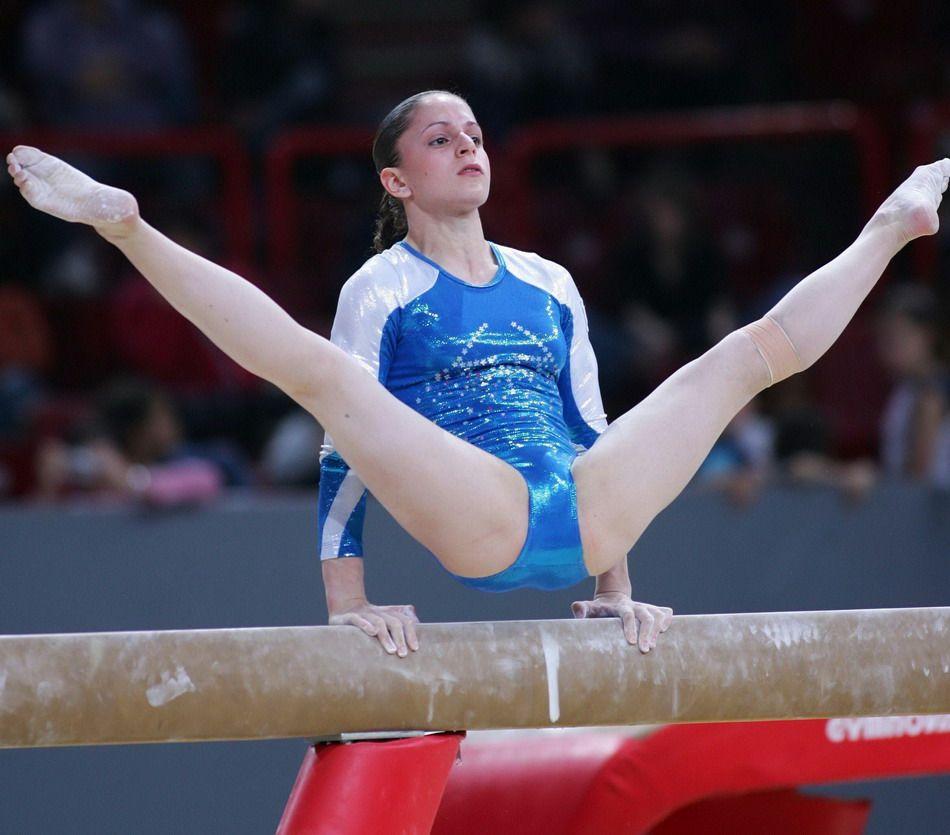 Upskirts gymnastics