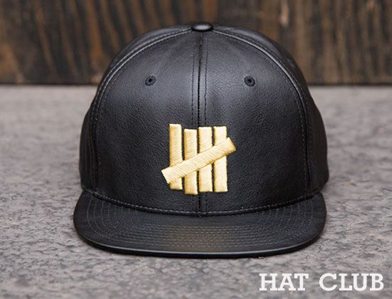 d59b12fef86 Exclusive Leather 5 Strikes Snapback Cap by HAT CLUB x UNDEFEATED ...
