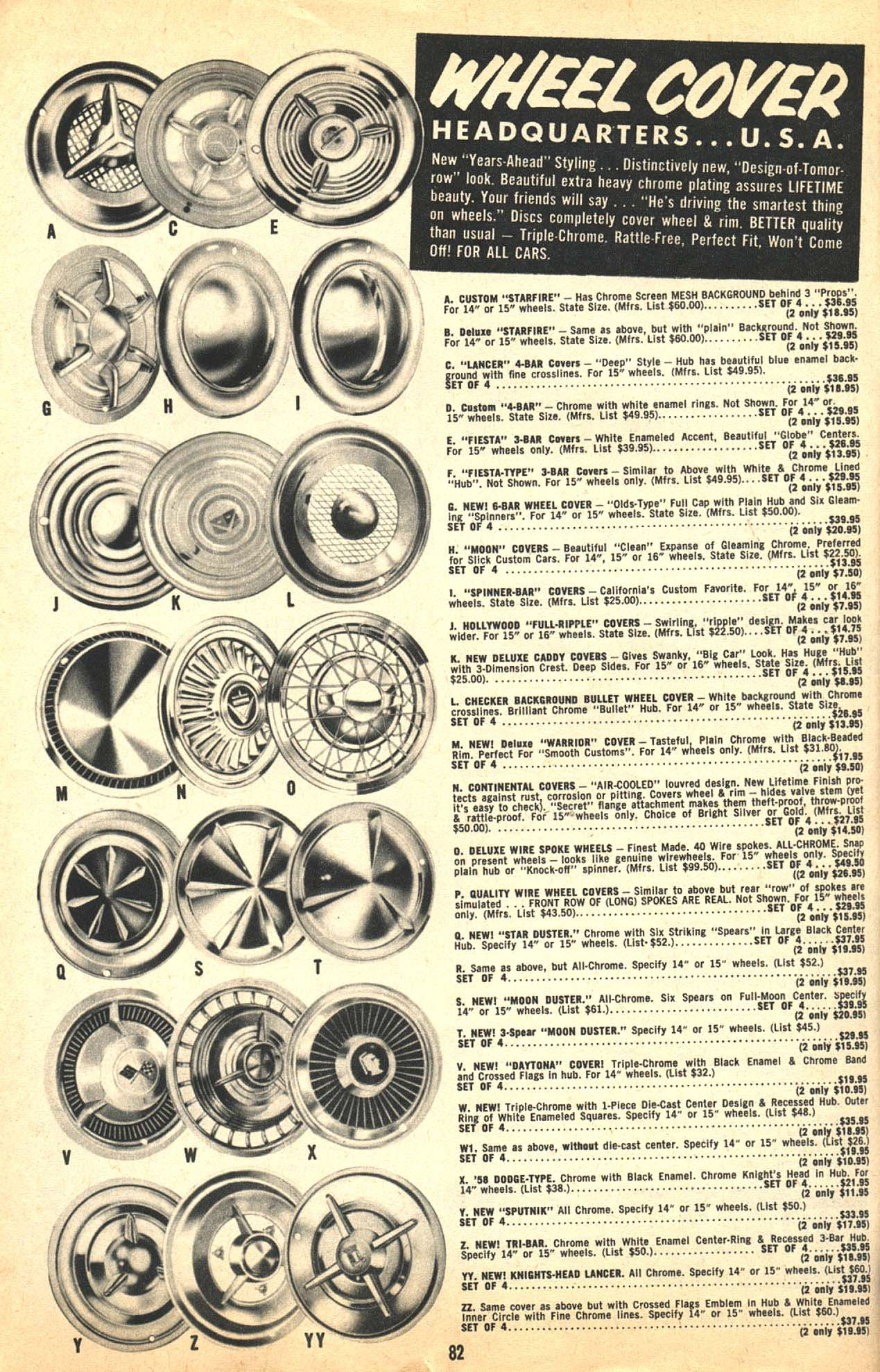 1950s Hubcap Ad Wheel Covers Custom Cars Old Hot Rods Lead 1950 Pontiac Vin Decoder Sleds Cruisers Low Riders