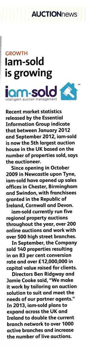 Published article in December 2012 Property Drum Magazine