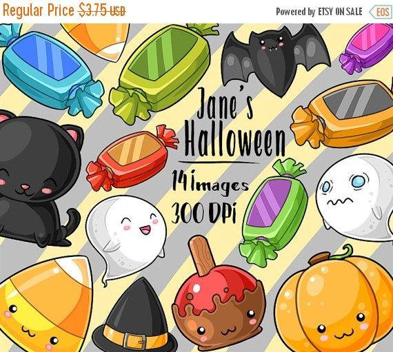 50% OFF Kawaii Halloween Clipart By DigitalArtsi