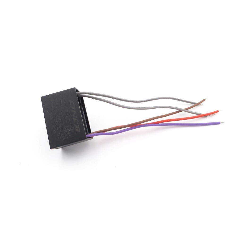 Cbb61 4 5 5 6uf 250v 5 Wires Motor Run Capacitor Electrical Fan 3 4 5 Speed Electric Fanners Electronic Regulator Cable