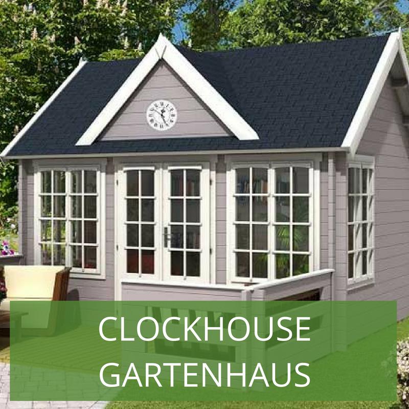 Clockhouse Design Gartenhauser Im Englischen Stil Gartenhaus Haus Gartenhaus Gmbh